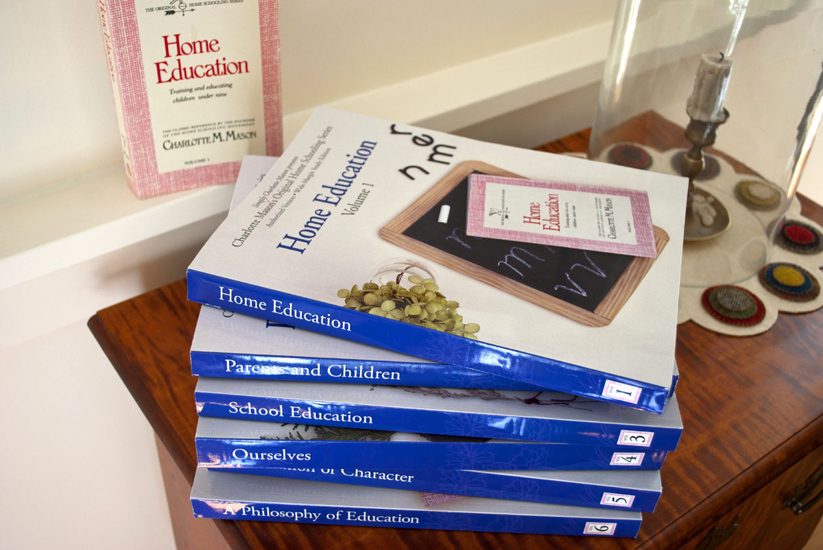 Charlotte Masons's Original Homeschooling Series six volume set pile new edition.